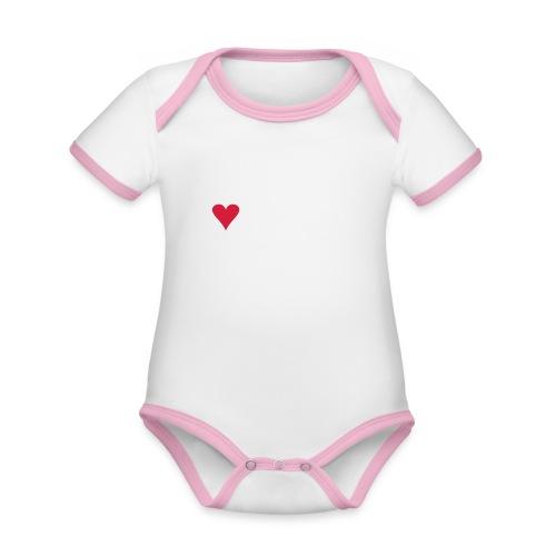 I LOVE VAAKSY - Vauvan kontrastivärinen, lyhythihainen luomu-body