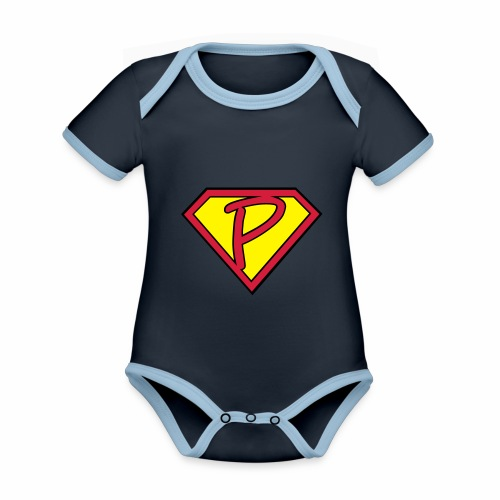 superp 2 - Baby Bio-Kurzarm-Kontrastbody