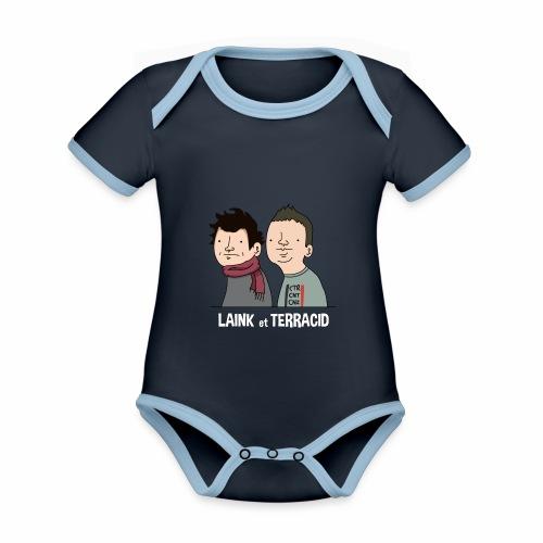 Laink et Terracid - Body Bébé bio contrasté manches courtes