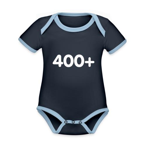 400 - Baby contrasterend bio-rompertje met korte mouwen