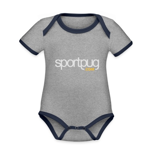 SportPug.com - Vauvan kontrastivärinen, lyhythihainen luomu-body