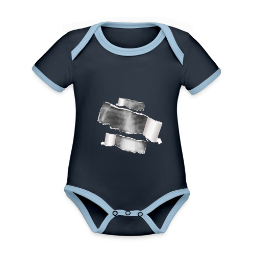 Chest X-Ray - Body da neonato a manica corta, ecologico e in contrasto cromatico
