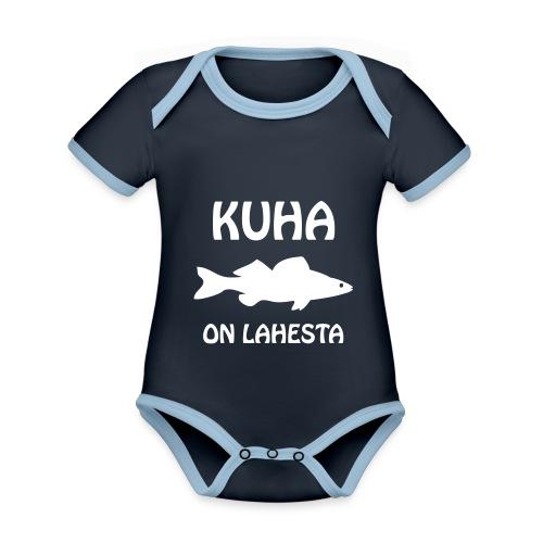 KUHA ON LAHESTA - Vauvan kontrastivärinen, lyhythihainen luomu-body