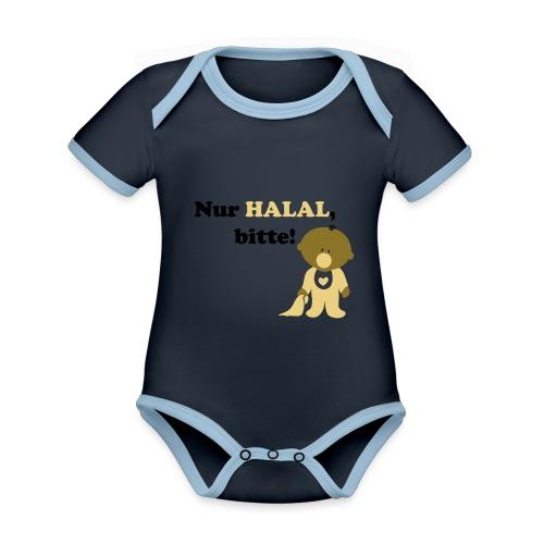 Nur Halal, bitte! Babylätzchen (männlich) - Baby Bio-Kurzarm-Kontrastbody