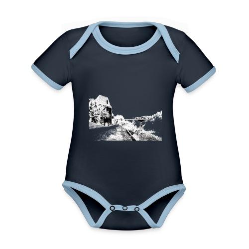 J'aime Mouleydier - Pont F - Body Bébé bio contrasté manches courtes