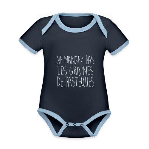 Tshirt-Femme -enceinte-1 - Body Bébé bio contrasté manches courtes