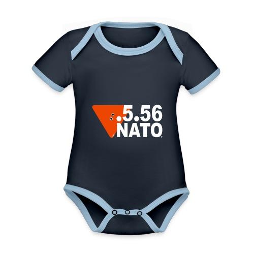 .5.56 NATO BLANC - Body Bébé bio contrasté manches courtes