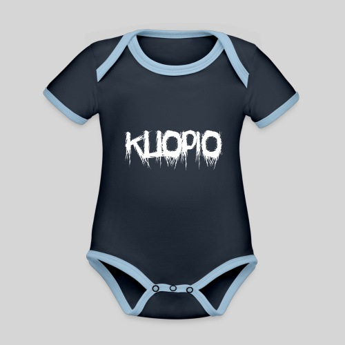 Kuopio - Vauvan kontrastivärinen, lyhythihainen luomu-body