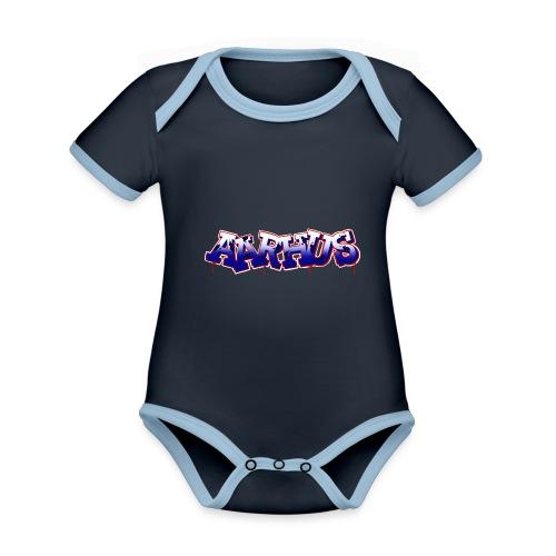 AARHUS - Kortærmet økologisk babybody i kontrastfarver