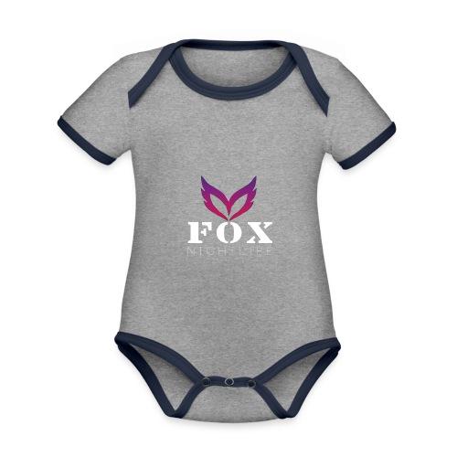 Vrienden van Fox Nightlife - Baby contrasterend bio-rompertje met korte mouwen