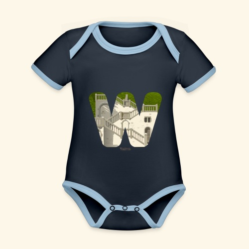 Wuppertal T-Shirt Vogelsauer Treppe - Baby Bio-Kurzarm-Kontrastbody