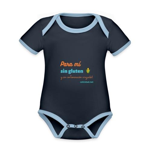 Para mí sin gluten y sin contaminación cruzada!! - Body contraste para bebé de tejido orgánico