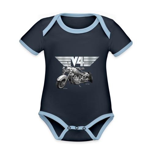 Royal Star silver Wings - Baby Bio-Kurzarm-Kontrastbody
