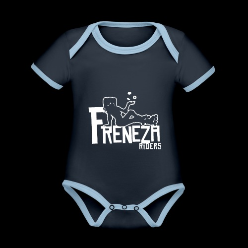 Freneza riders crew - Body Bébé bio contrasté manches courtes