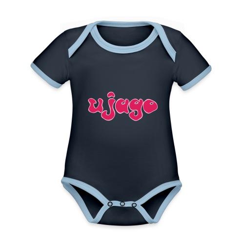 ujago magenta - Baby Bio-Kurzarm-Kontrastbody