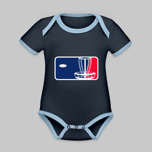 Major League Frisbeegolf - Vauvan kontrastivärinen, lyhythihainen luomu-body