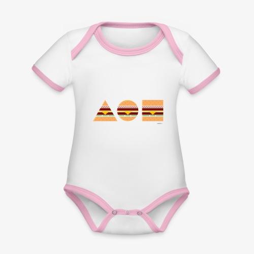 Graphic Burgers - Body da neonato a manica corta, ecologico e in contrasto cromatico