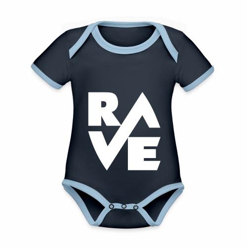 rave - Baby Bio-Kurzarm-Kontrastbody