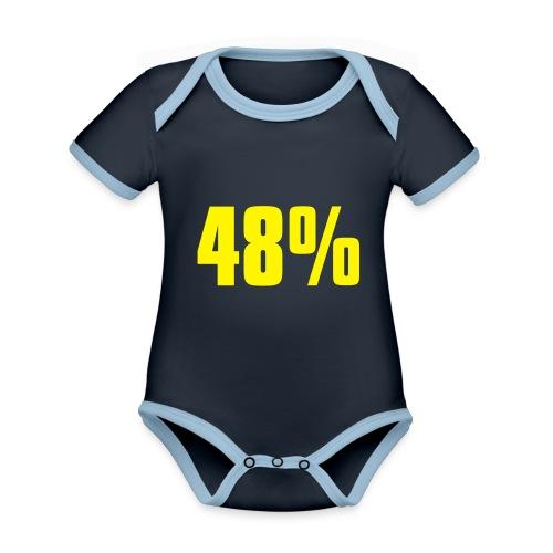 48% - Organic Baby Contrasting Bodysuit