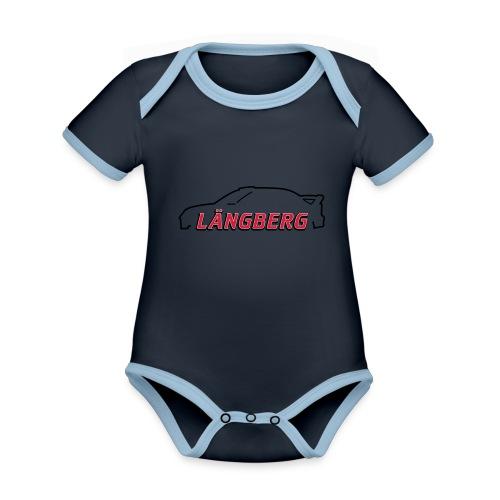 logotype Laengberg - Ekologisk kontrastfärgad kortärmad babybody