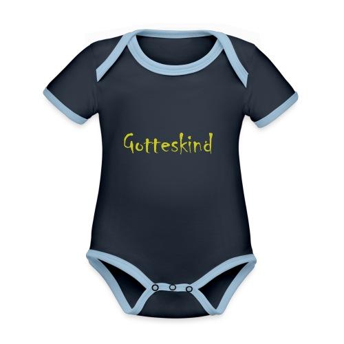 Gotteskind - Baby Bio-Kurzarm-Kontrastbody