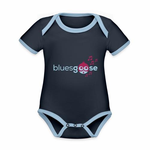 bluesgoose #01 - Baby Bio-Kurzarm-Kontrastbody