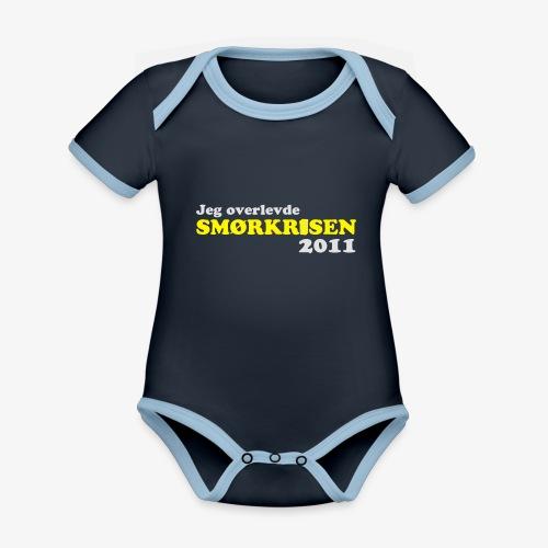 Smørkrise 2011 - Norsk - Økologisk kortermet kontrast-babybody