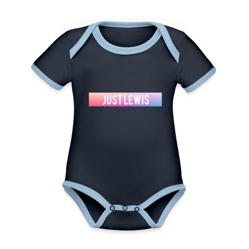 Just Lewis Box Logo - Organic Baby Contrasting Bodysuit