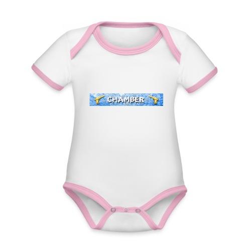 Chamber - Body da neonato a manica corta, ecologico e in contrasto cromatico
