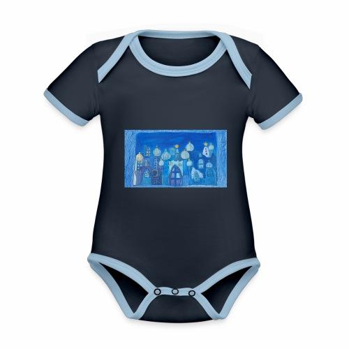 Orientträume - Baby Bio-Kurzarm-Kontrastbody