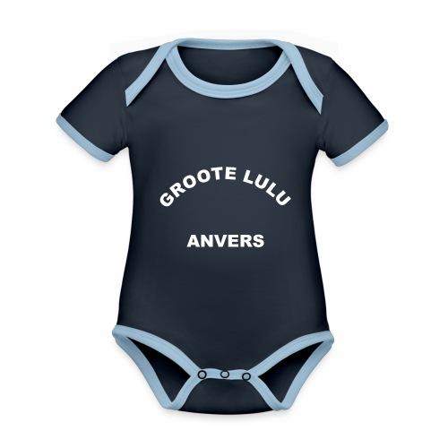 Groote Lulu Anvers - Body Bébé bio contrasté manches courtes