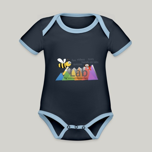 iLabX - The Internet Masterclass - Organic Baby Contrasting Bodysuit