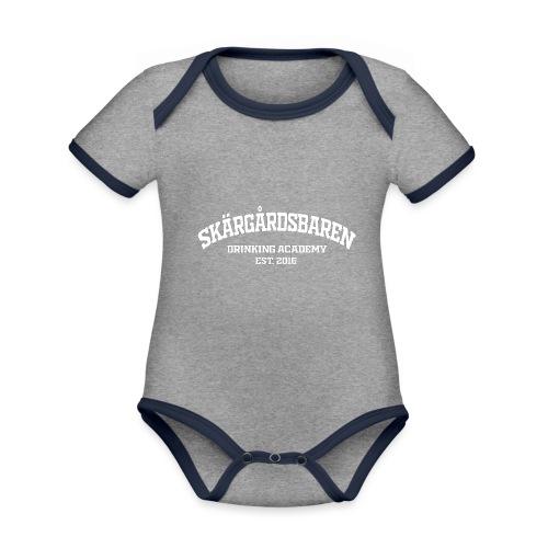 SB drinking academy White - Vauvan kontrastivärinen, lyhythihainen luomu-body