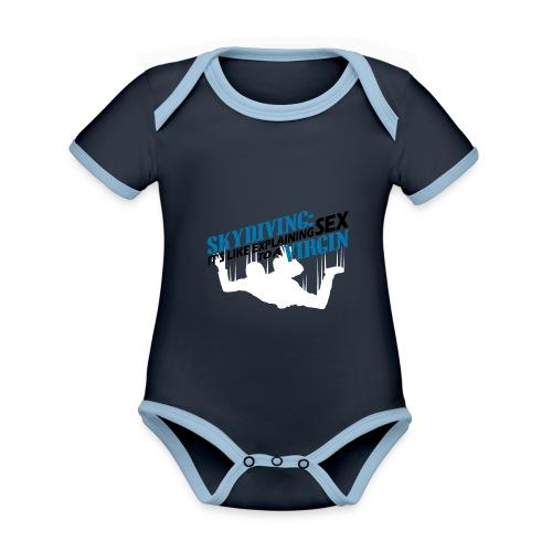 skydiving - Ekologiczne body niemowlęce z krótkim rękawem i kontrastowymi lamówkami