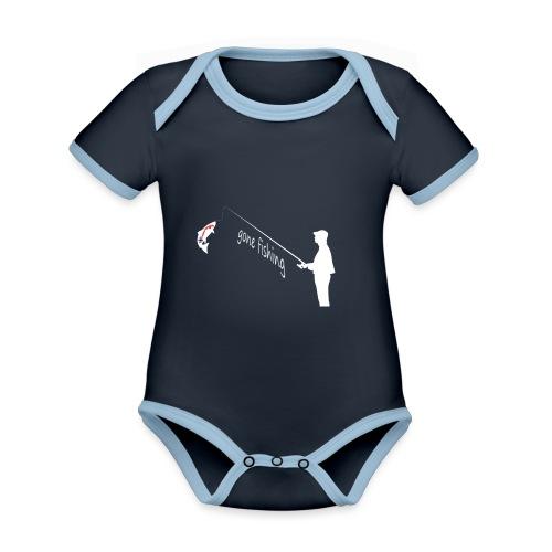 Angler - Baby Bio-Kurzarm-Kontrastbody