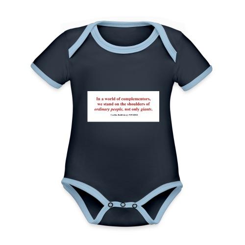 #OUI2021 Memories - Organic Baby Contrasting Bodysuit