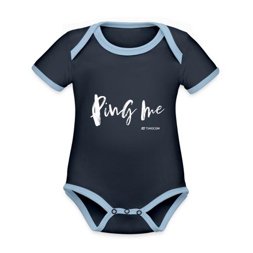 Ping me - Kortærmet økologisk babybody i kontrastfarver