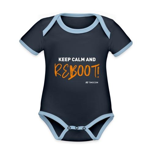 Reboot - Kortærmet økologisk babybody i kontrastfarver