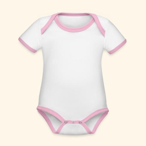Stahlträger - Baby Bio-Kurzarm-Kontrastbody