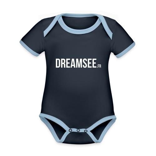 Dreamsee - Body Bébé bio contrasté manches courtes