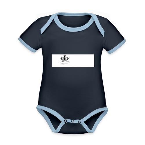 william - Organic Baby Contrasting Bodysuit