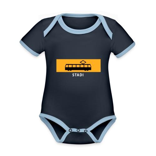 STADIN RATIKKA PYSÄKKI KYLTTI T-paidat ja lahjat - Vauvan kontrastivärinen, lyhythihainen luomu-body