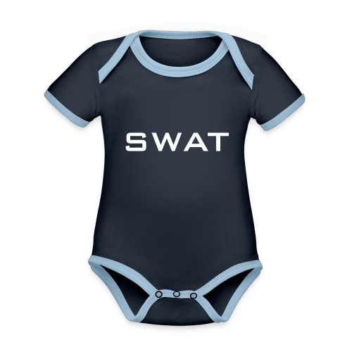 SWAT - Baby Bio-Kurzarm-Kontrastbody