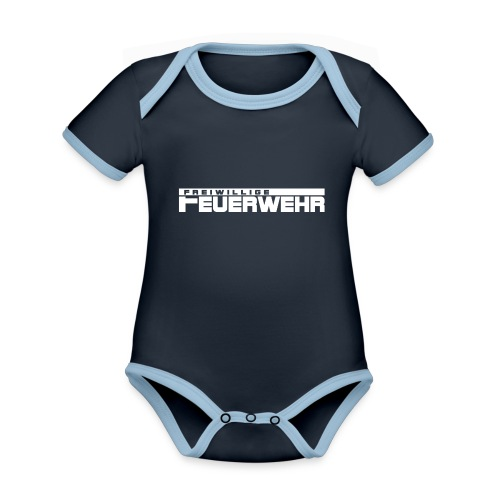 Freiwillige Feuerwehr Schriftzug - Baby Bio-Kurzarm-Kontrastbody