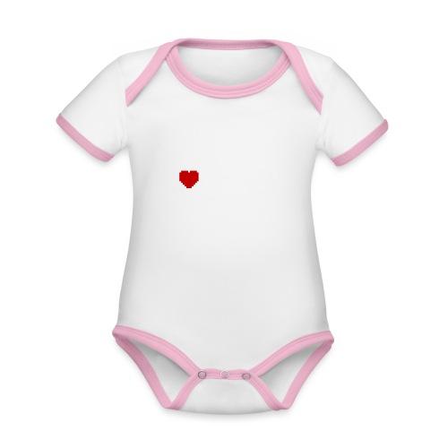 I Love Pixels - Kortærmet økologisk babybody i kontrastfarver