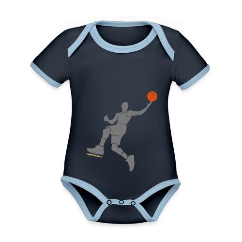 slamdunk_ball - Body da neonato a manica corta, ecologico e in contrasto cromatico