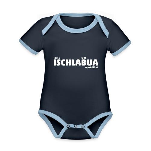 supatrüfö ISCHLABUA - Baby Bio-Kurzarm-Kontrastbody