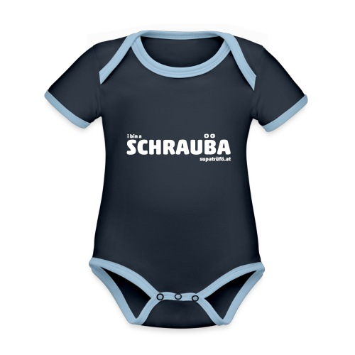 supatrüfö SCHRAUBA - Baby Bio-Kurzarm-Kontrastbody