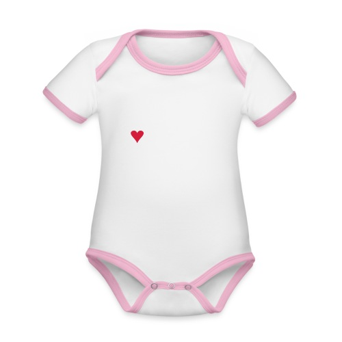 I LOVE JARVENPAA - Vauvan kontrastivärinen, lyhythihainen luomu-body
