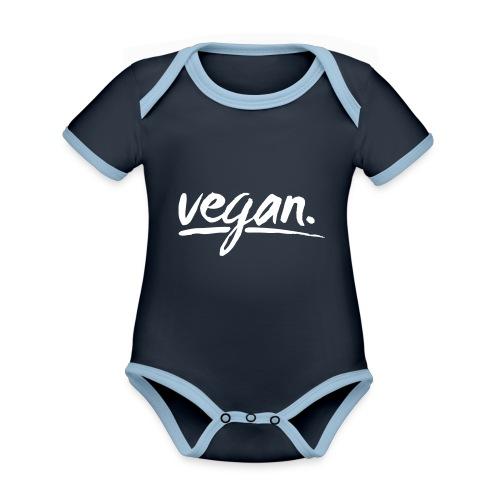 vegan - simply vegan ! - Baby Bio-Kurzarm-Kontrastbody
